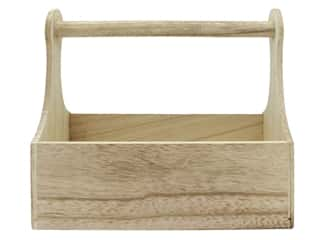 "craft & hobbies: Sierra Pacific Crafts Wood Basket 11""x 9""x 5"" Burnt Finish"