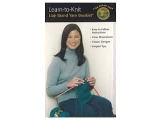 Leisure Arts Learn To Knit Lion Brand Yarn Booklet