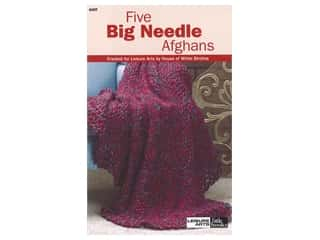 Leisure Arts Five Big Needle Afghans Knit Book