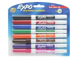 craft & hobbies: Expo Marker Dry Erase Set Fine Low Odor 8 Colors