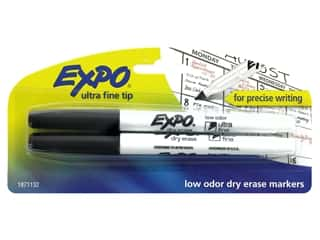Expo Marker Dry Erase Ultra Fine Low Odor Black 2pc
