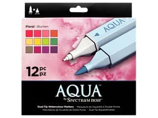 Crafter's Companion Spectrum Noir Aqua Watercolor Marker Florals 12pc