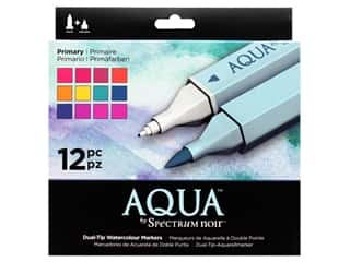 Crafter's Companion Spectrum Noir Aqua Watercolor Marker Primary 12pc