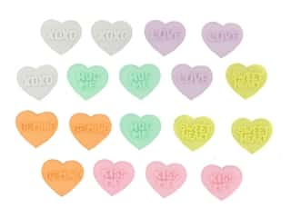 craft & hobbies: Jesse James Dress It Up Embellishments Valentine Collection Candy Kisses