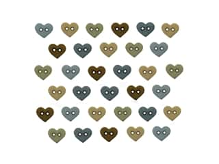 Jesse James Embellishments Micro Mini Hearts Earthtones