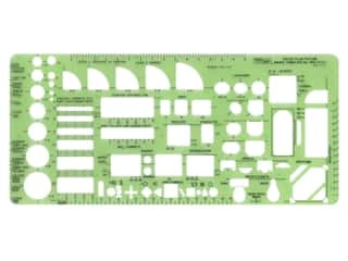 Pro Art Template Inking House Plan Fixtures .25 in. Scale