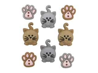 craft & hobbies: Jesse James Embellishments Happy Kitties
