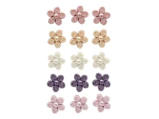 Jesse James Embellishments Pearl Flowers