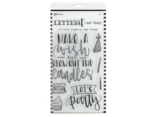 Ranger Letter It Clear Stamp Set Let's Party