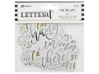 scrapbooking & paper crafts: Ranger Letter It Die Cut Set 1