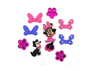 craft & hobbies: Jesse James Dress It Up Embellishments Disney Minnie Bowtique Buttons