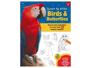 books & patterns: Walter Foster Jr Learn To Draw Birds & Butterflies Book