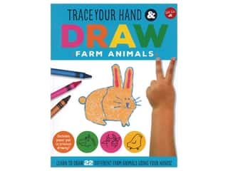 Walter Foster Jr Trace Your Hand & Draw Farm Animals Book