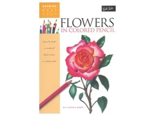 Walter Foster Drawing Made Easy Flowers In Colored Pencils Book