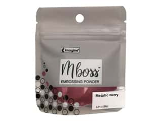 Imagine Crafts Mboss Powder .55oz Metallic Berry