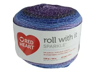 Coats & Clark Red Heart Roll With It Yarn Sparkle 5.3 oz Amethyst (3 skeins)