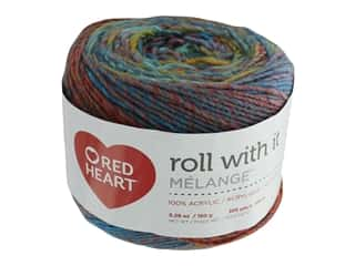 yarn: Coats & Clark Red Heart Roll With It Yarn Melange 5.3 oz Paparazzi