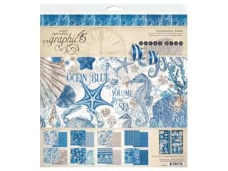 scrapbooking & paper crafts: Graphic 45 Collection Ocean Blue Collection Pack 12 in. x 12 in.