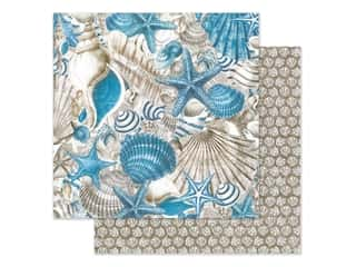 Graphic 45 Collection Ocean Blue Paper 12 in. x 12 in. Belize (25 pieces)