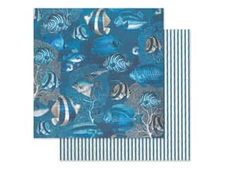 Graphic 45 Collection Ocean Blue Paper 12 in. x 12 in. Capri (25 pieces)