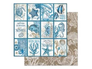 Graphic 45 Collection Ocean Blue Paper 12 in. x 12 in. Cozumel (25 pieces)