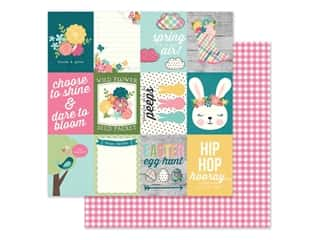 scrapbooking & paper crafts: Simple Stories Collection Hip Hop Hooray Paper 12 in. x 12 in. Elements 3 in. x 4 in. (25 pieces)