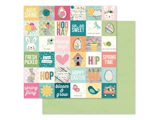 scrapbooking & paper crafts: Simple Stories Collection Hip Hop Hooray Paper 12 in. x 12 in. Elements 2 in. x 2 in. (25 pieces)