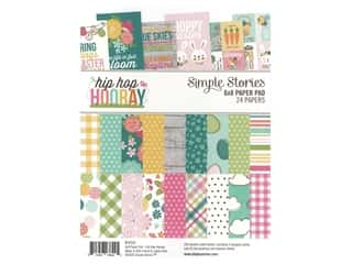 scrapbooking & paper crafts: Simple Stories Collection Hip Hop Hooray Paper Pad 6 in. x 8 in.