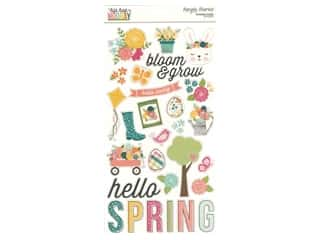 Simple Stories Collection Hip Hop Hooray Sticker Chipboard 6 in. x 12 in.