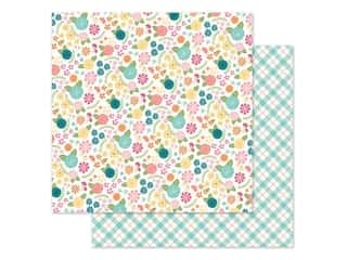 scrapbooking & paper crafts: Simple Stories Collection Hip Hop Hooray Paper 12 in. x 12 in. Blossoms (25 pieces)