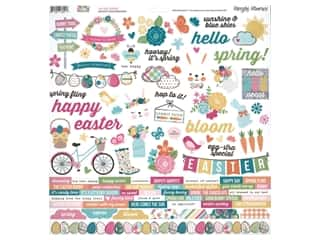 decorative bird: Simple Stories Collection Hip Hop Hooray Sticker Combo 12 in. x 12 in. (12 pieces)