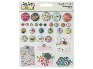 decorative bird: Simple Stories Collection Hip Hop Hooray Decorative Brads
