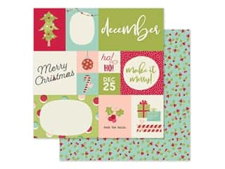 scrapbooking & paper crafts: Simple Stories Collection Best Year Ever Paper 12 in. x 12 in. December (25 pieces)