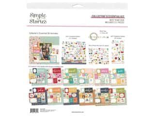 scrapbooking & paper crafts: Simple Stories Collection Best Year Ever Collector's Essential Kit