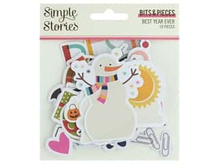 scrapbooking & paper crafts: Simple Stories Collection Best Year Ever Bits & Pieces