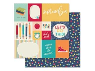 scrapbooking & paper crafts: Simple Stories Collection Best Year Ever Paper 12 in. x 12 in. September (25 pieces)
