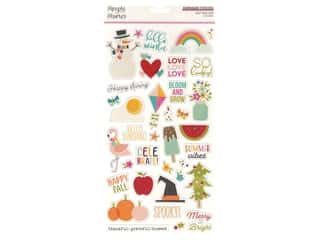 Simple Stories Collection Best Year Ever Sticker Chipboard 6 in. x 12 in.