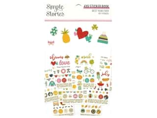 scrapbooking & paper crafts: Simple Stories Collection Best Year Ever Sticker Book 4 in. x 6 in.