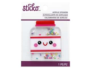 scrapbooking & paper crafts: EK Sticko Stickers Acrylic Sprinkles Jar
