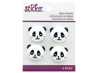 scrapbooking & paper crafts: EK Sticko Stickers Resin Panda Face