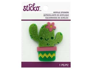 EK Sticko Stickers Acrylic Friendly Cactus