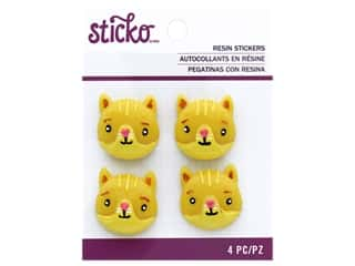 scrapbooking & paper crafts: EK Sticko Stickers Resin Cat Face