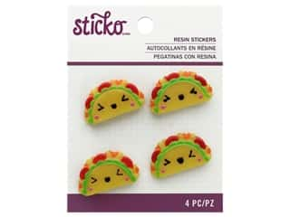 EK Sticko Stickers Resin Taco