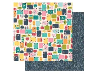 Simple Stories Collection Going Places Paper 12 in. x 12 in. Pack Your Bags (25 pieces)