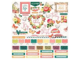 Simple Stories Collection Simple Vintage Garden District Sticker Combo12 in. x 12 in. (12 pieces)