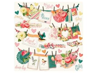 Simple Stories Collection Simple Vintage Garden District Sticker Banner 12 in. x 12 in. (12 pieces)