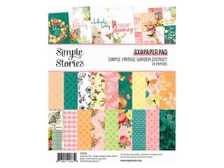 Simple Stories Collection Simple Vintage Garden District Paper Pad 6 in. x 8 in.