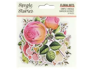 Simple Stories Collection Simple Vintage Garden District Bits & Pieces Floral