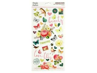 Simple Stories Collection Simple Vintage Garden District Sticker Chipboard 6 in. x 12 in.