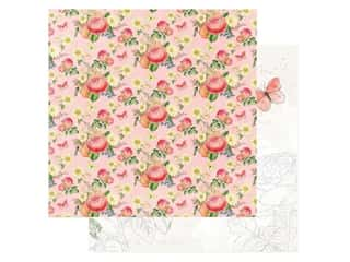 Simple Stories Collection Simple Vintage Garden District Paper 12 in. x 12 in. Choose Happy (25 pieces)